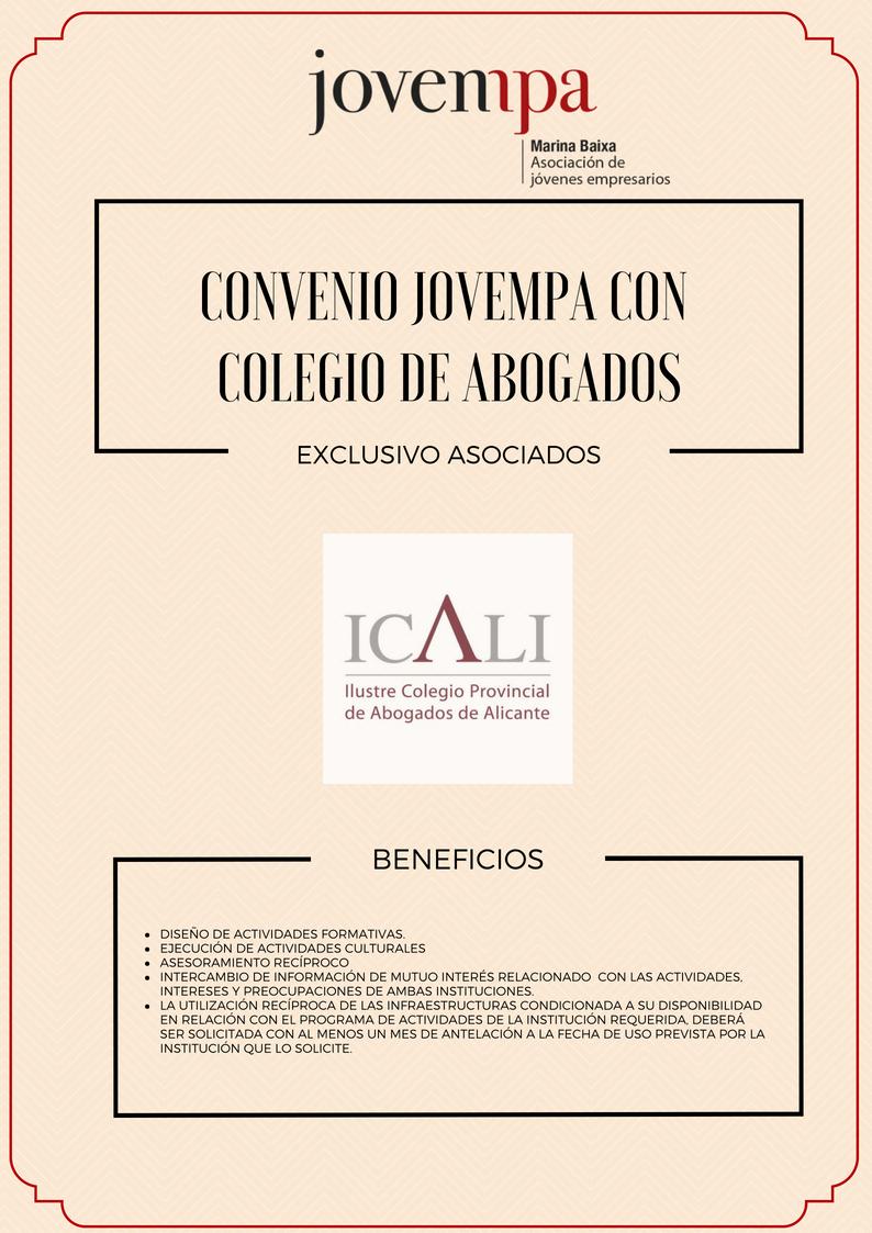 Convenio Jovempa y ICALI