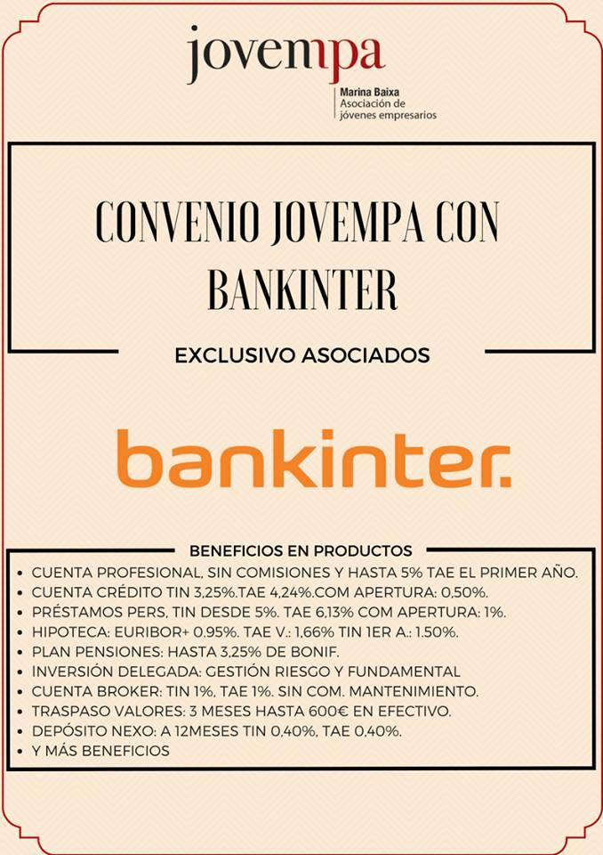 convenio Jovempa y Bankinter